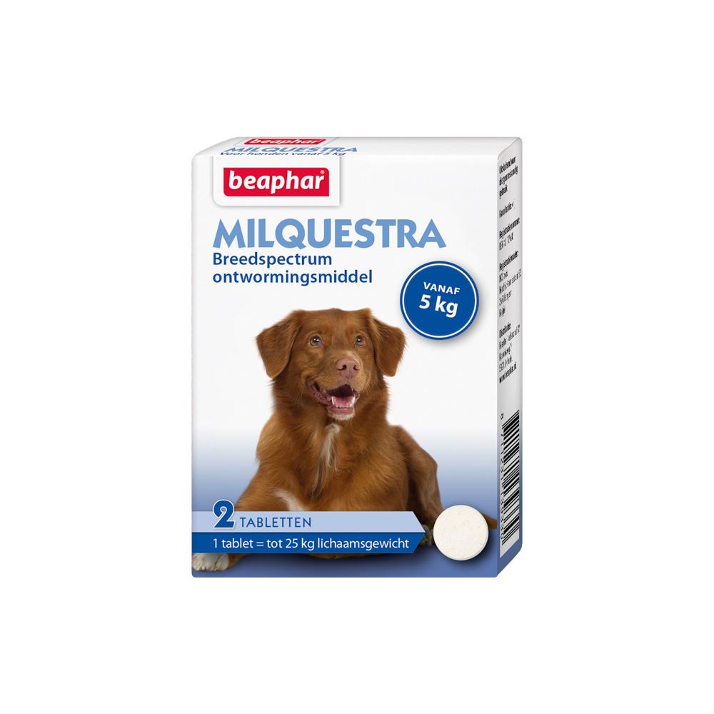 Beaphar Milquestra Wormtablet Hond vanaf 5kg