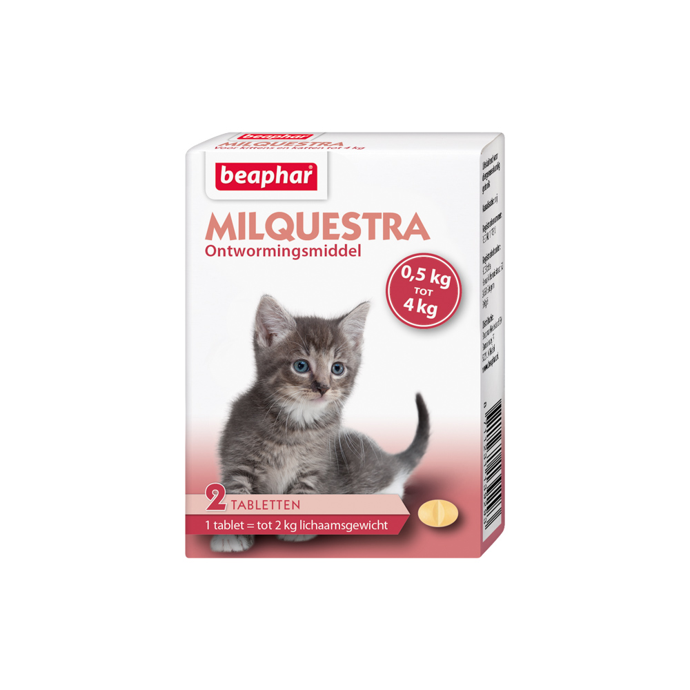 Beaphar Milquestra wormtablet kleine kat en kitten