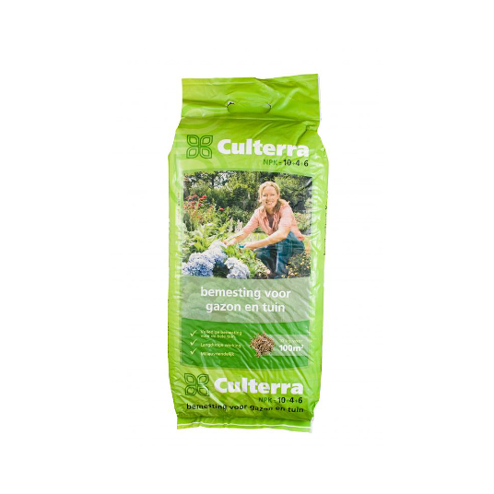 Culterra 10-4-6 organische meststof 25 kg per pallet